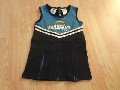 Toddler Girls San Diego Chargers 3T Cheerleader Cheer Outfit Dress NFL Team Appa