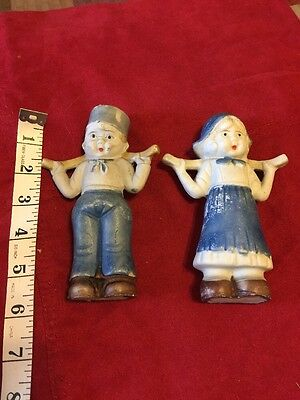 Dutch Boy and Dutch Girl Figurines Made in Japan Vintage