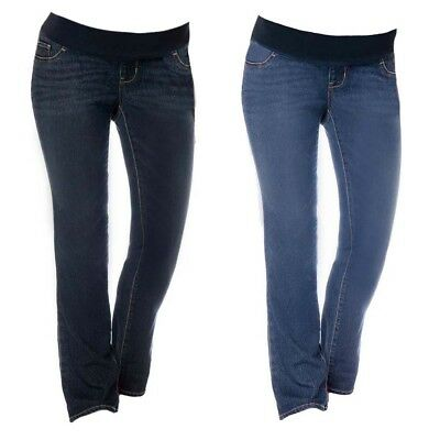 Maternity Low Rise Bootcut Jeans With Stretch Panel