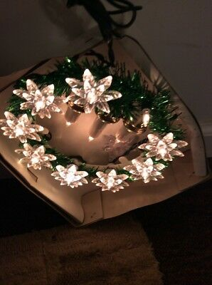 Lighted Wreath Vintage 8 Inches