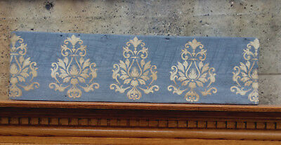 Gorgeous Damask Plaster Relief On Old Board 42 Inches