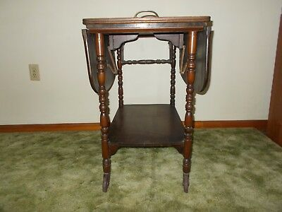 Antique Imperial Furniture Tea Cart with extenders and Glass top Made in USA