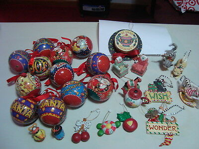 Huge lot of 27 Mary Engelbreit Christmas ornaments