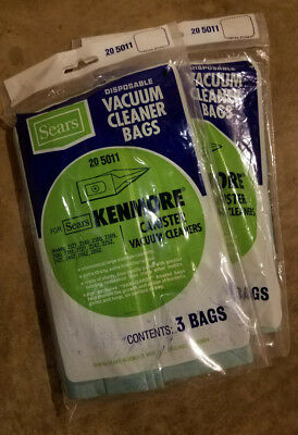 Kenmore Sears Disposable Canister Vacuum Bags 50403 20