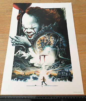 New Original 'it' Stephen King 2017 Cinema Poster, Pennywise, Losers Club