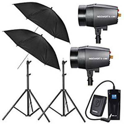 Neewer 360W Strobe Flash Light Photo Studio Kit and Wireless Radio 16 Channel Tr