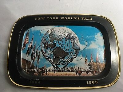 1964-65 New York World's Fair License Plate Souvenir Collector Unisphere Peace