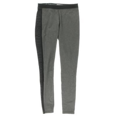 Under Armour 8963 Womens Gray Logo Colorblock Stretch Athletic Leggings S BHFO