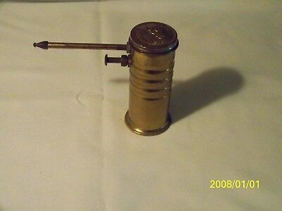 Old Vintage Brass Eagle No.66 Pump Oil Can ~ Antique Brass Oiler Mechanic Tool
