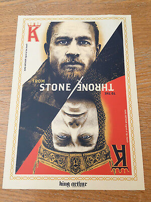 ORIGINAL KING ARTHUR MOVIE ODEON CINEMA UK POSTER - Charlie Hunnam, Jude Law