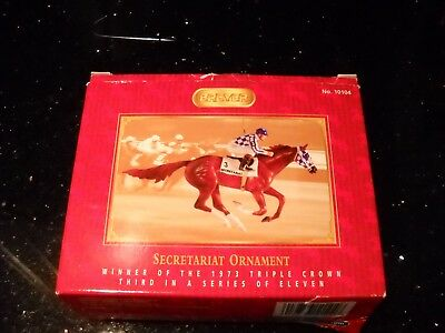 BREYER  SECRETARIAT Triple Crown 3RD  in Series Christmas Ornament #10104