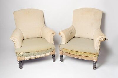 Antique French Pair Of Chairs, Napoleon III, Original, 19th Century, Armchairs,