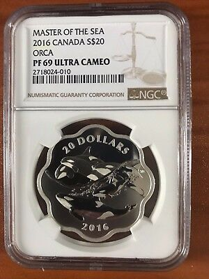 2016 $20 Canada Orca Scalloped PF69 Ultra Cameo