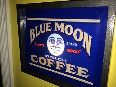 ***Blue Moon Coffee House Diner Kicthen Restaurant Advertising Lighted Sign