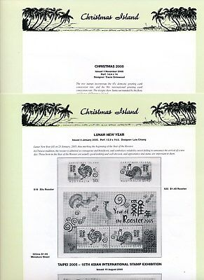 2005 Christmas Island Seven Seas Album Pages Used Good Condition NO STAMPS