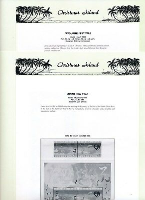 1999 Christmas Island Seven Seas Album Pages Used Good Condition NO STAMPS
