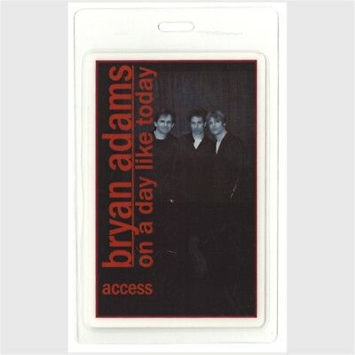 Bryan Adams authentic 1998 Laminated Backstage Pass On a Day Like Today Tour AA