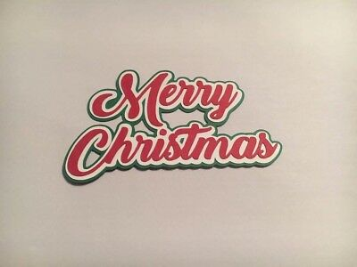 """Merry Christmas"" Cardmaking / Scrapbooking Title Die Cut Image"