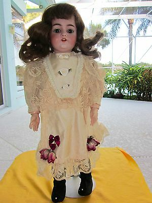 """Antique Bisque Simon & Halbig Doll Original Ball Jointed Composition Doll 18"""""""