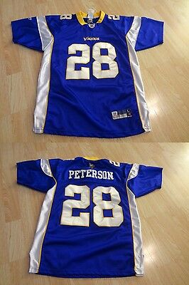 Youth Minnesota Vikings Adrian Peterson L (14 16) Embroidered Jersey Reebok  On- 1c24bbe97