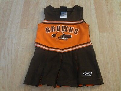 05ead7e6 INFANT/BABY GIRLS CLEVELAND Browns 12 Mo Cheerleader Cheer Outfit Dress  Reebok
