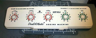 vintage Dial a Matic Adding Machine & plastic stylus, fantastic condition, nice
