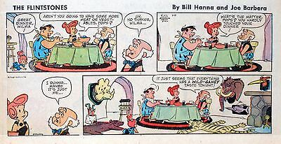 The Flintstones - Hanna-Barbera - lot of 15 color Sunday comic pages, early 1970