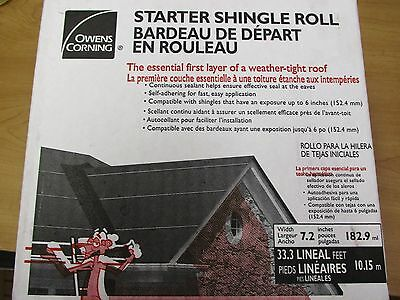 4 rolls. Easy Self Stick, Starter Shingle Rolls.Owens Corning. Asphalt Roofing