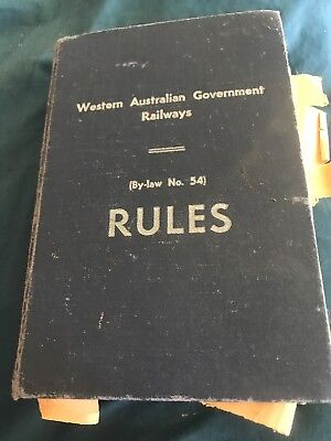 Vintage 1962 Rules Book  PERTH WAGR Railway