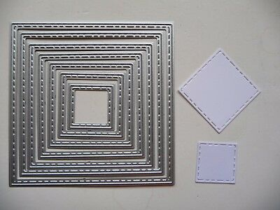 Thin Metal Cutting Die Nesting Stitched Nested Squares Dies Scrapbooking Sizzix