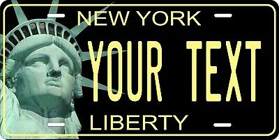 New York Liberty 2 License Plate Personalized Custom Auto Bike Moped Motorcycle