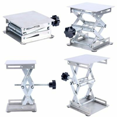 """American Educational Lift Tables 4 x 4"""" Alloy Steel Platform - Silver -EAM"""