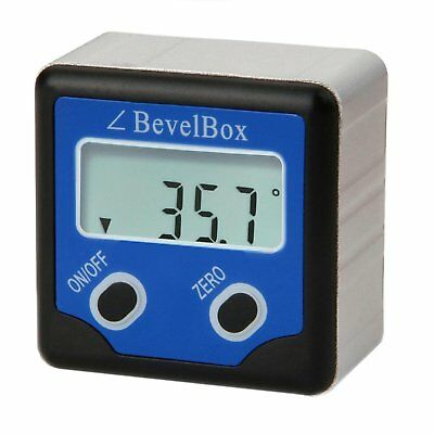 Electronic Digital Inclinometer Bevel Box Gauge Angle Protractor ±180°(0-360°)