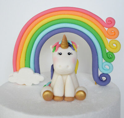 UNICORN Fondant Edible CAKE Toppers Birthday Party Decorations