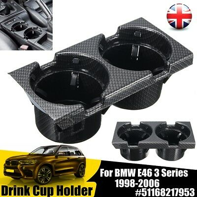 Carbon Front Center Console Drink Cup Holder For BMW E46 3 Series 51168217953