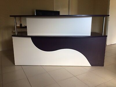 Office Reception Desk White / Purple Brisbane