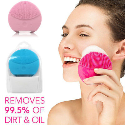 Electric Soft Silicone Face Scrub Brush Wash Pad Facial Deep Clean Dirt Remover