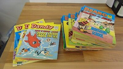 COMIC LIBRARY - Beano issues 75, 117-132, 134-36, 138-140 Dandy mixed 5 issues