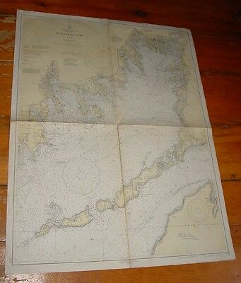 Old Working 1937 Nautical Chart Buzzards Bay USC &GS