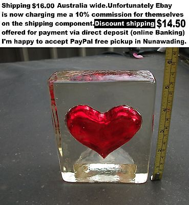 Paperweight glass love flame sculpture curiosity candle holder whatever ??