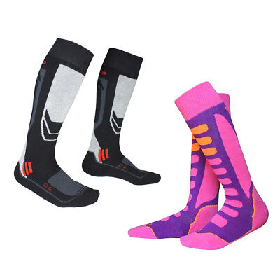 Winter Sport Father Daughter Thermal Ski Snow Socks (2 Pair) For Kids Adult