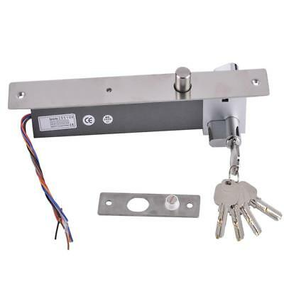 NO Mode DC12V Electric Drop Bolt Door Lock Fail-security Lock with Keys