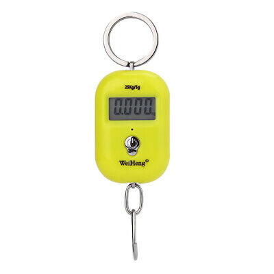 LCD Portable Electronic Hook Scale Hanging Luggage Weight SCALE 25kg/5g 3 Colors