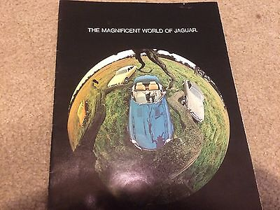 "1974 Jaguar USA Market Brochure Catalog ""The Magnificent world of Jaguar"""""
