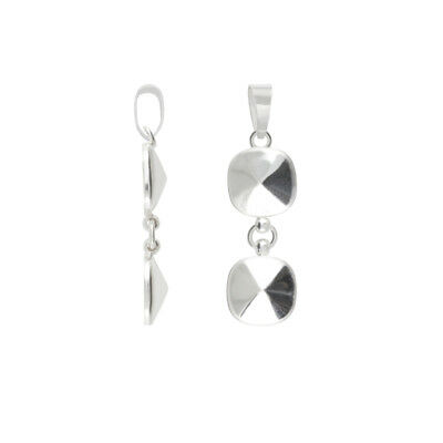 Sterling Silver 36mm Length Bail for Gluing 4470 10mm Square Crystals