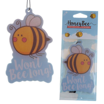 Honey Scented Hanging Air Freshener With Honey Bee Design Vehicle Home Fragrance