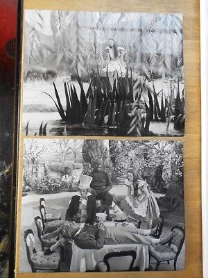 2 x Alice In Wonderland movie press photos 1972 Fiona Fullerton, Dudley Moore