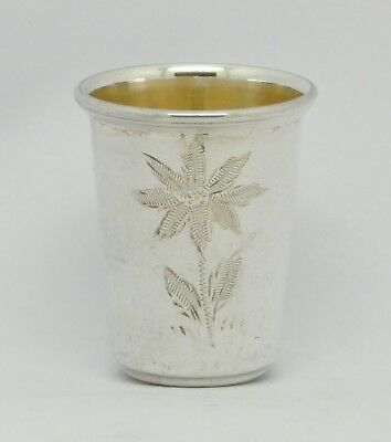 Beautiful German Solid Sterling Silver Tot Shot Cup Good Condition Great Gift!