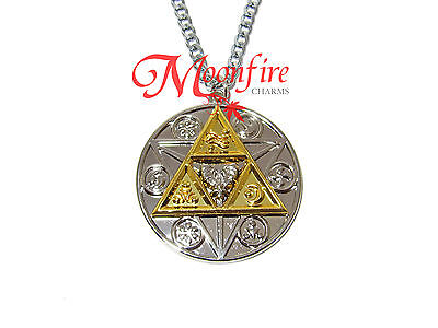 The Legend Of Zelda Triforce Hylian Circle Symbols Necklace Gold Silver Plated