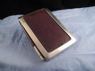Silver Leather Pocket Aide Memoire Antique Wallet Card Case Jenner Knewstub 1883